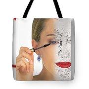 Abstract Make Up Tote Bag
