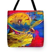 Digital Mixed Media Butterfly Tote Bag