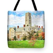 Digital Painting Of University Hall Tote Bag