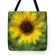 Digital Painting Series Sunflower Tote Bag