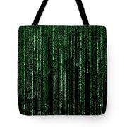 Digital Rain Tote Bag