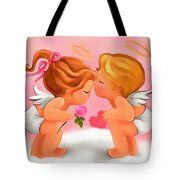 Digital Valentine Tote Bag