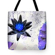 Digitally Altered Water Lily Tote Bag