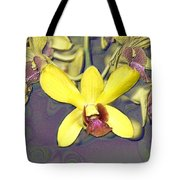 Digitised Orchids Tote Bag