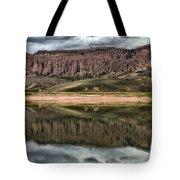 Dillon Pinnacles In Blue Mesa Tote Bag
