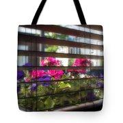 Diner Flowers Tote Bag