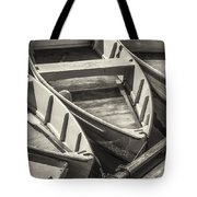 Dinghies Dockside Bw Tote Bag