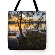 Dinghies On Shoreline Tote Bag