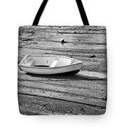 Dinghy At Low Tide Tote Bag