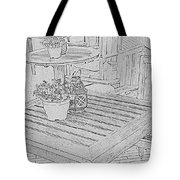 Dining On The Street Tote Bag