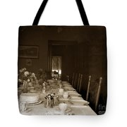 Dining Room Table Circa 1900 Tote Bag