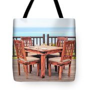 Dining Table Tote Bag by Tom Gowanlock