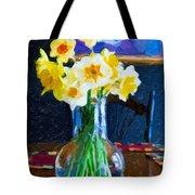 Dining With Daffodils Tote Bag by Jo-Anne Gazo-McKim