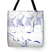 Dinka Wise Virgins -south Sudan Tote Bag by Gloria Ssali