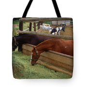 Dinner At The Ranch Tote Bag