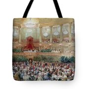 Dinner In The Salle Des Spectacles At Versailles Tote Bag