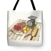 Weighing Dinner Preparation Supper Tote Bag