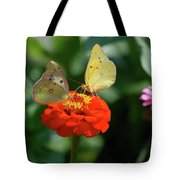 Dinner Table For Two Butterflies Tote Bag