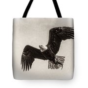 Dinner Time Black And White Tote Bag