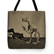Dino Dark Medium Sepia Tote Bag