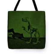 Dino Dark Olive Tote Bag