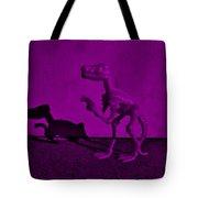 Dino Dark Purple... Barney Tote Bag