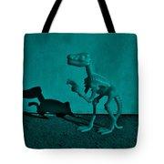 Dino Dark Turquoise Tote Bag