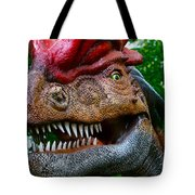 Dino In The Bronx Four Tote Bag