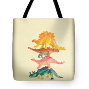 Dinosaur Antics Tote Bag