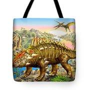 Dinosaur Panorama Tote Bag