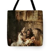 Diomedes Devoured By His Horses Tote Bag