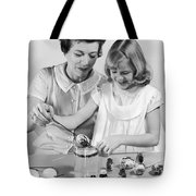 Dipping Easter Eggs Tote Bag