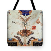 Diptych With Flowers And Insects Tote Bag