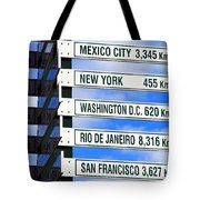 Direction Signs Tote Bag