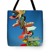 Directions Signs Tote Bag