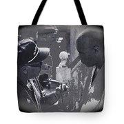 Director Martin Ritt And James Earl Jones Number 2 The Great White Hope Set Globe Arizona 1969-2013 Tote Bag