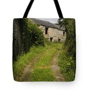 Dirt Path To Stone Building Tote Bag