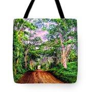 Dirt Road To Secret Beach On Kauai Tote Bag