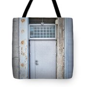 Dirty Metal Door Tote Bag
