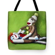Dirty Socks Tote Bag by Leah Saulnier The Painting Maniac