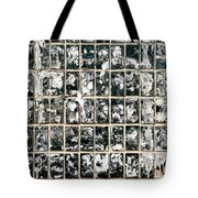 Dirty Wall Of Tiles And Paper Texture Tote Bag