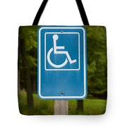 Disabled Parking Sign Tote Bag