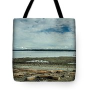 Low Tide Along The Discovery Passage Tote Bag