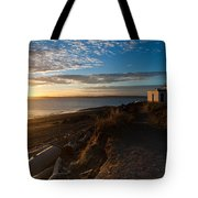 Discovery Park Lighthouse Sunset Tote Bag