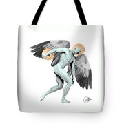 Discus Thrower Angel Tote Bag