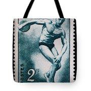 Discus Vintage Postage Stamp Print Tote Bag