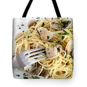 Dish Of Spaghetti With Clams Tote Bag
