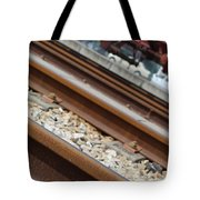Dismantled Train Station Tote Bag by Luis Alvarenga