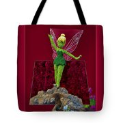 Disney Floral Tinker Bell 01 Tote Bag by Thomas Woolworth