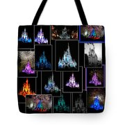 Disney Magic Kingdom Castle Collage Tote Bag